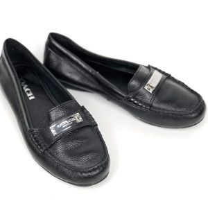 Coach | Fredrica Pebble Leather Loafer in Black